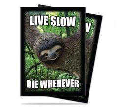 Sloth: Live Slow,Die Whenever Standard Deck Protectors 50ct