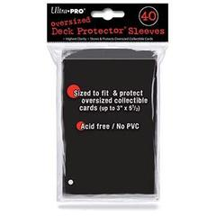 40ct Black Oversized Deck Protectors 40ct
