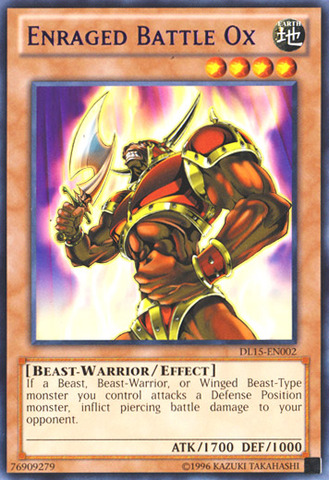 Enraged Battle Ox - Purple - DL15-EN002 - Rare - Unlimited Edition