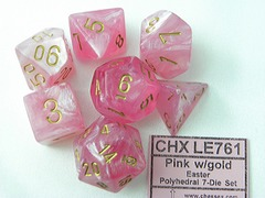 7 Easter Pink w/Gold Dice Block - CHXLE761