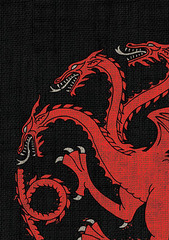 Game of Thrones Art Sleeves - House Targaryen 50 ct