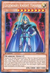 Legendary Knight Timaeus - DRLG-EN001 - Secret Rare - 1st Edition