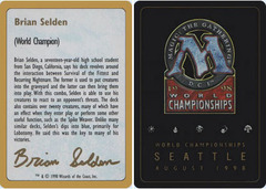 Biography - Brian Selden - 1998