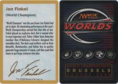 Biography - Jon Finkel - 2000