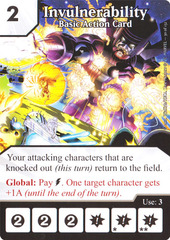 Basic Action Card - Invulnerability (Card Only)