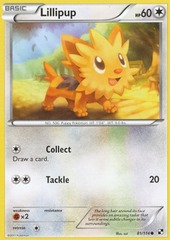 Lillipup - 81 - Promotional - Crosshatch Holo Pokemon League Trio Season 2011