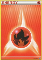 Fire Energy - 106 - Promotional - Crosshatch Holo Pokemon League Basic Season 2011