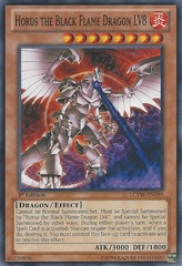 Horus the Black Flame Dragon LV8 - LCYW-EN199 - Common - Unlimited Edition