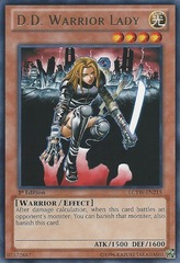 D.D. Warrior Lady - LCYW-EN215 - Rare - Unlimited Edition
