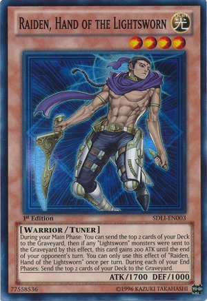 Raiden, Hand of the Lightsworn - SDLI-EN003 - Super Rare - 1st Edition