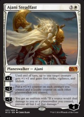 Ajani Steadfast - Foil on Channel Fireball