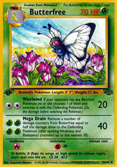 Butterfree - 33/64 - Uncommon - 1999-2000 Wizards Base Set Copyright Edition