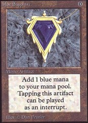 Mox Sapphire on Channel Fireball