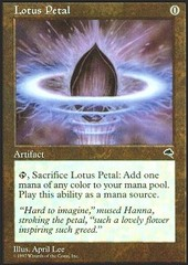 Lotus Petal on Channel Fireball