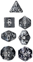 Translucent Clear / White 7 Dice set - CHX23001