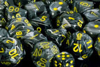 Vortex Black / Yellow 7 Dice Set - CHX27438