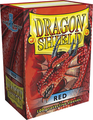 Dragon Shield Classic Standard-Size Sleeves - Red - 100ct