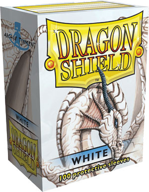 Dragon Shield Classic Standard-Size Sleeves - White - 100ct
