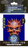 Max Protection Standard Size Blue Skull Sleeves - 60ct