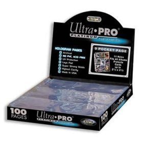 Box of 100 Ultra Pro 9 Pocket Pages Platinum