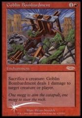 Goblin Bombardment (FNM Foil) on Channel Fireball
