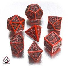 Red-Black Dwarven Dice Set