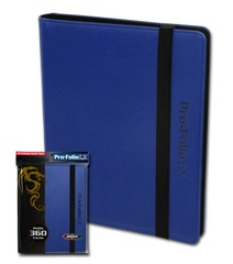 Pro-Folio BCW Blue 9-Pocket LX Deluxe Embossed Leatherette 360 Card Album w/Sideload Pages