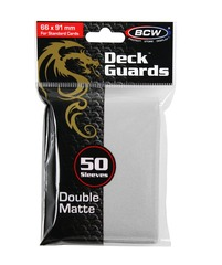 BCW Deck Guard Matte Sleeves - White