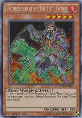 Brotherhood of the Fire Fist - Coyote - MP14-EN054 - Secret Rare - 1st Edition on Channel Fireball