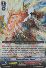 Dragon Knight, Gimel - BT15/015EN - RR on Channel Fireball