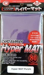 KMC Hyper Mat Purple Sleeves (80 ct)