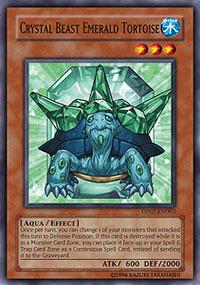 Crystal Beast Emerald Tortoise - DP07-EN003 - Common - 1st Edition