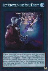 Last Chapter of the Noble Knights - NKRT-EN017 - Platinum Rare - Limited Edition on Channel Fireball