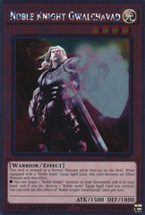 Noble Knight Gwalchavad - NKRT-EN007 - Platinum Rare - Limited Edition on Channel Fireball