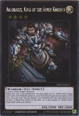 Artorigus, King of the Noble Knights - NKRT-EN037 - Platinum Rare - Limited Edition on Channel Fireball
