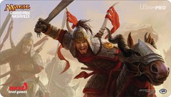 Grand Prix Nashville 2014 Playmat (MTG) - Rush of Battle
