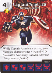 Captain America - Natural Leader (Die & Card Combo)