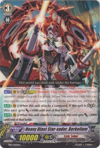 Heavy Blast Star-vader, Berkelium - TD17/003EN