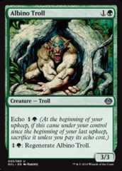 Albino Troll on Channel Fireball