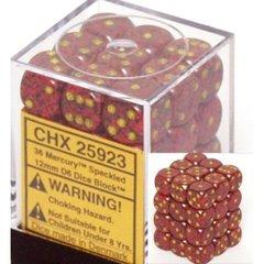 36 Mercury Speckled 12mm D6 Dice Block - CHX25923