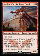 Alesha, Who Smiles at Death - Foil on Channel Fireball