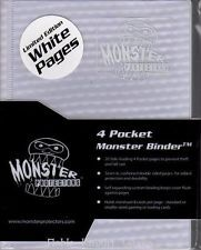 Monster Protectors 4-Pocket Binder - Holofoil White w/White Pages