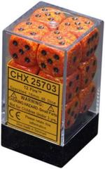 12 Fire Speckled 16mm D6 Dice Set - CHX25703