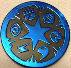 Blue Shiny Energy Collectable Coin