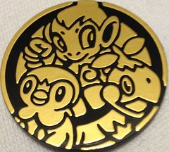 Gold Chimchar,Piplup,Turtwig Collectable Coin