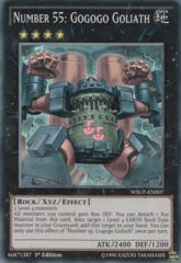 Number 55: Gogogo Goliath - WSUP-EN007 - Super Rare - 1st Edition on Channel Fireball