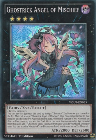 Ghostrick Angel of Mischief - WSUP-EN035 - Super Rare - 1st Edition