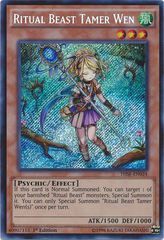 Ritual Beast Tamer Wen - THSF-EN024 - Secret Rare - Unlimited Edition