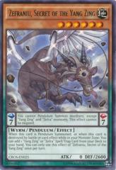 Zefraniu, Secret of the Yang Zing - CROS-EN025 - Rare - Unlimited Edition