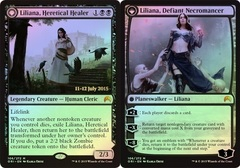 Liliana, Heretical Healer // Liliana, Defiant Necromancer - Prerelease Promo